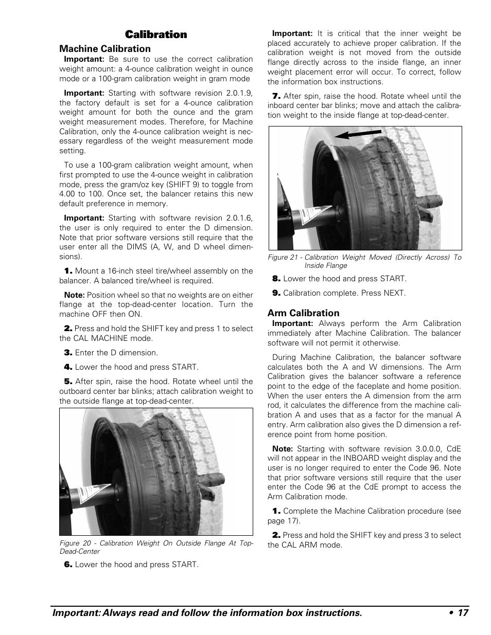 Calibration Coats 1250 Series Balancer User Manual