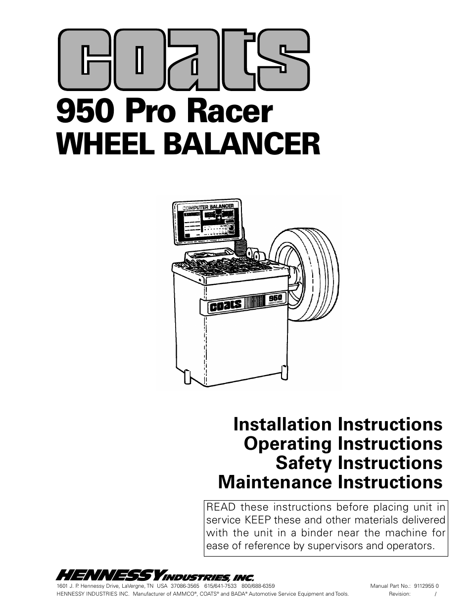coats 950 pro racer wheel balancer user manual 20 pages rh manualsdir com coats 950 tire balancer parts coats 950 wheel balancer parts list