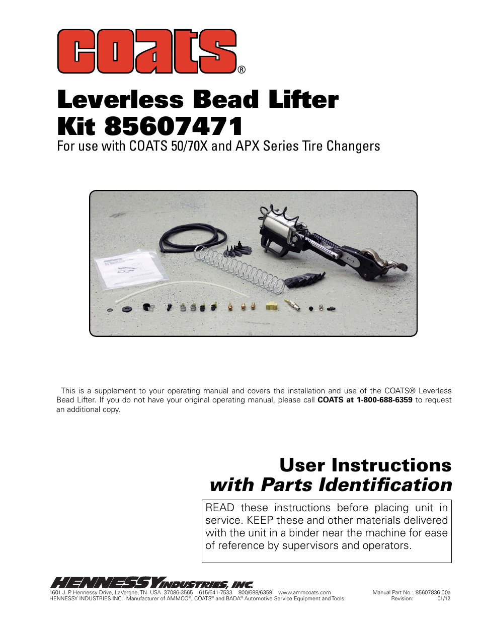 coats kit 85607471 leverless bead lifter user manual 12 pages rh manualsdir com Ammco Brake Tools Ammco Tire Changers