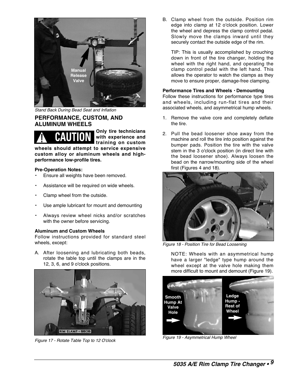 Caution Coats 5035 A E Tire Changer User Manual Page 11 18