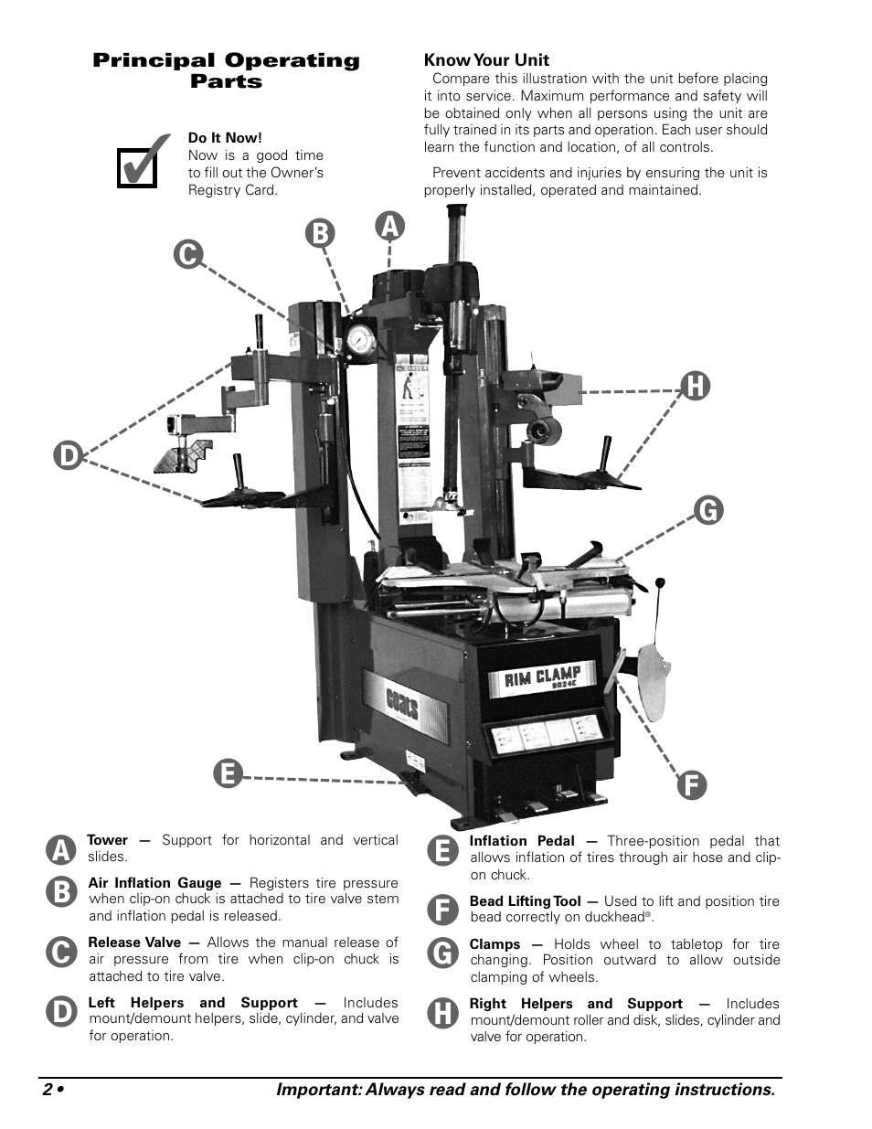 COATS 9024E Tire Changer User Manual | Page 6 / 28