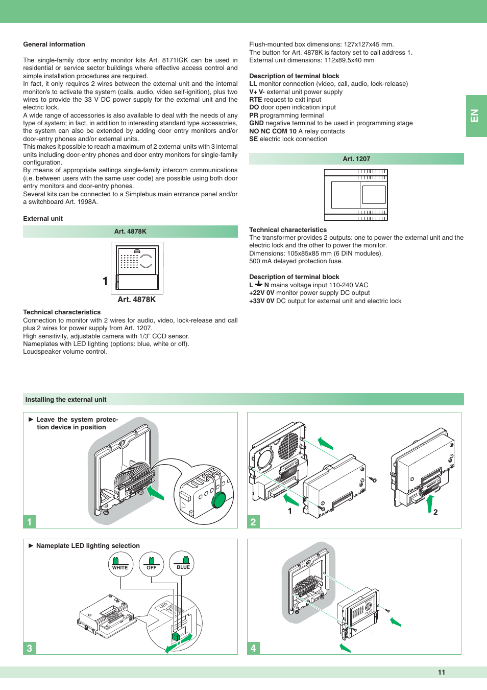 Comelit Simplebus Wiring Diagram Diagrams Videx Smart 1 Mt 8171igk User Manual Page 11 72 Basic Electrical