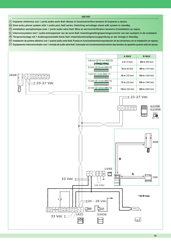 26 - 28 vdc | Comelit MT 1622 Ikall external unit User ... Ikall Comelit Intercom Wiring Diagram on