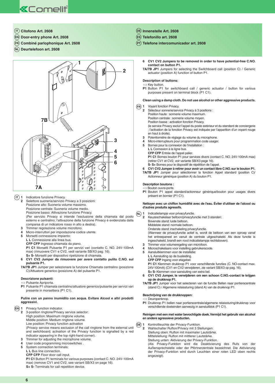 Comelit MT 1622 Ikall external unit User Manual | Page 6 ... on