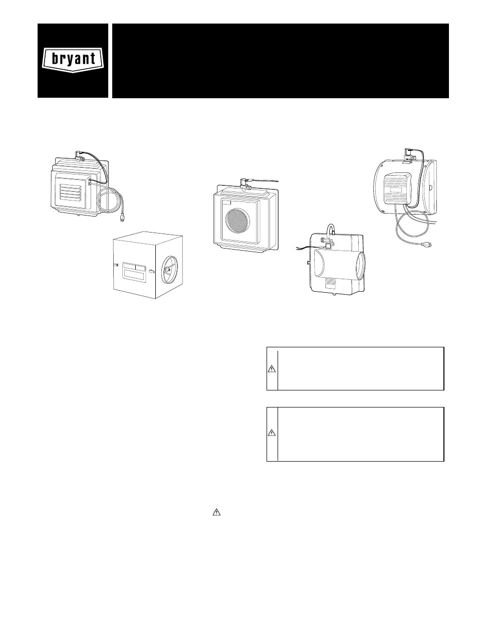 Bryant Hum 56 1 User Manual 12 Pages