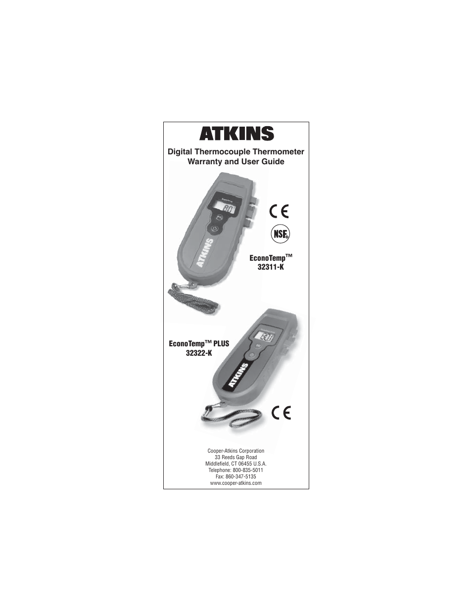 Cooper Atkins 32311 K Thermocouple