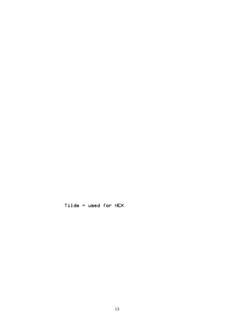 Printer configuration, Field hexadecimal indicator, Print mode