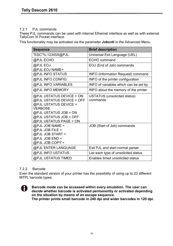 1 pjl commands 2 barcode tally dascom 2610 dascom 2600 user rh manualsdir com User Guide Icon ford escape 2017 user guide