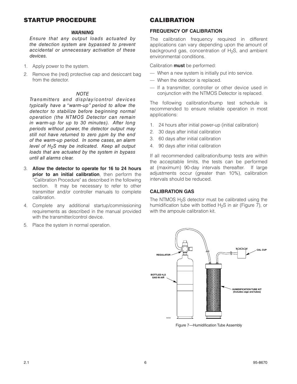 Startup procedure, Calibration | Det-Tronics NTMOS IP66/IP67