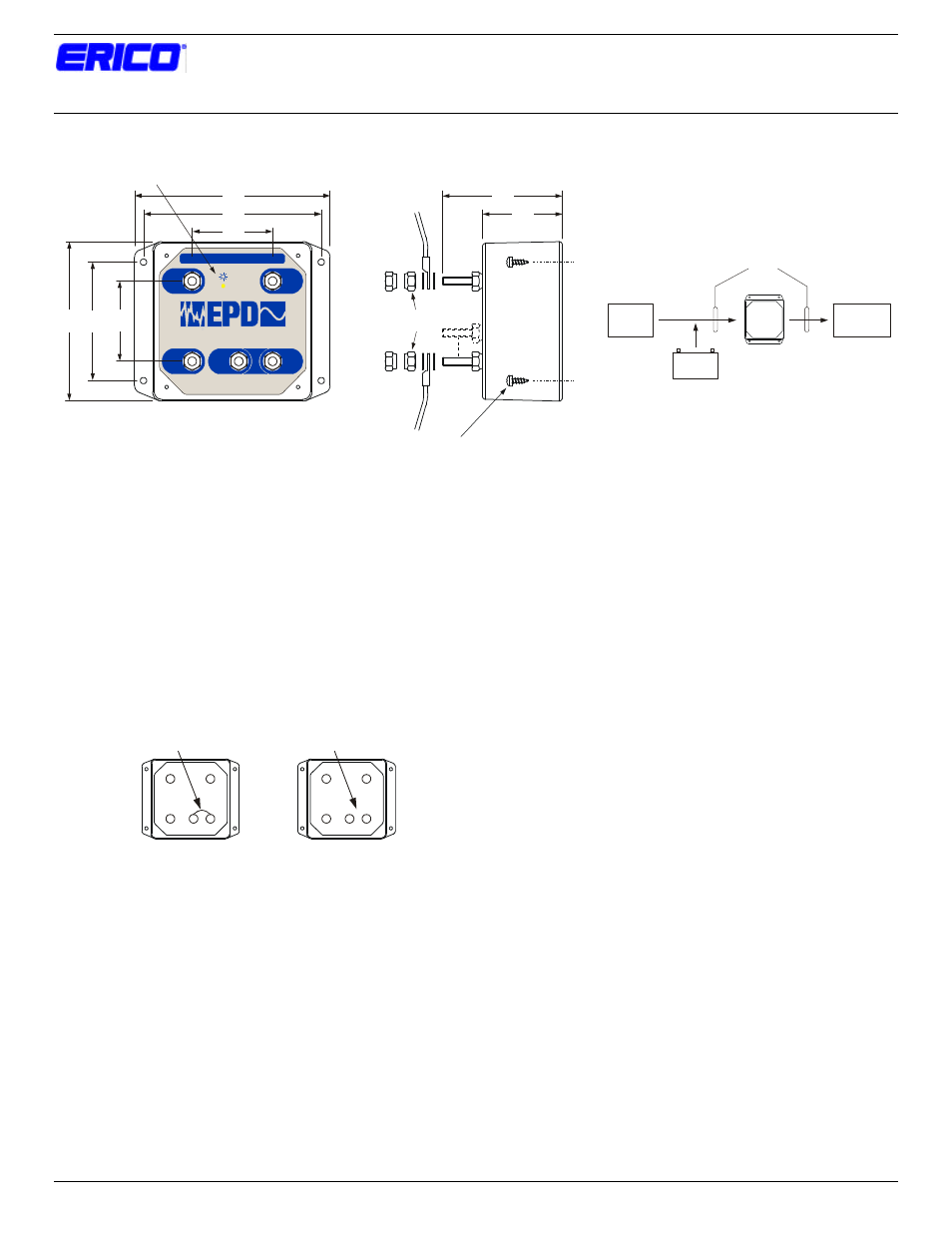 Erico Epd1224ataar 12 24vdc 30a Secondary Surge Protector User Electrical Wiring Manual 1 Page