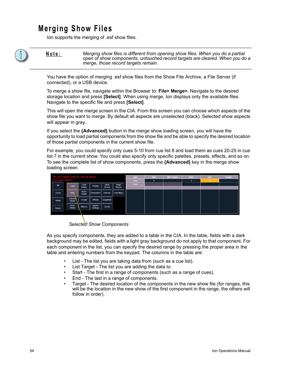 merging show files n o t e etc ion user manual page 70 440 rh manualsdir com etc cobalt user manual etc eos user manual