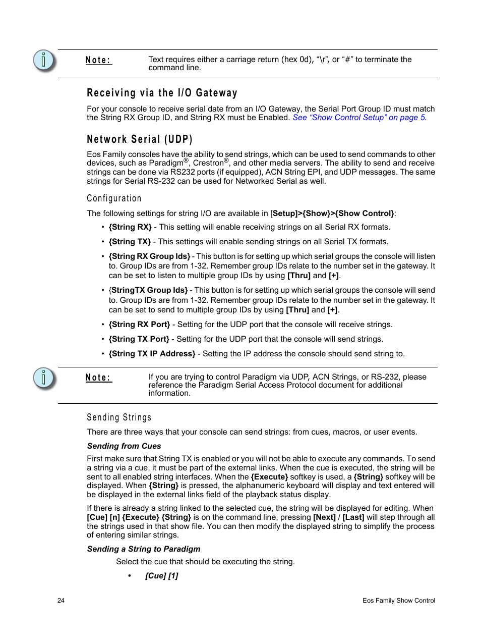 Receiving Via The I O Gateway Network Serial Udp Configuration