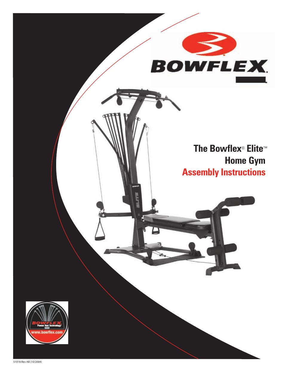 Bowflex elite™ home gym user manual pages