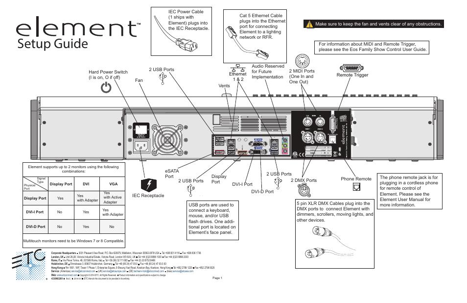 etc element setup guide user manual 1 page rh manualsdir com element 3d user guide wondershare pdfelement user guide