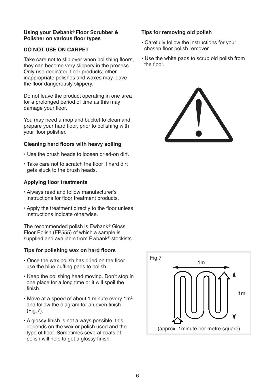 ewbank floor polisher instructions