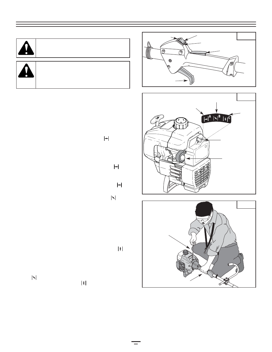 starting stopping instructions bolens bl250 user manual page 11 80 rh manualsdir com Bolens BL250 Trimmer Bolens BL250 Trimmer