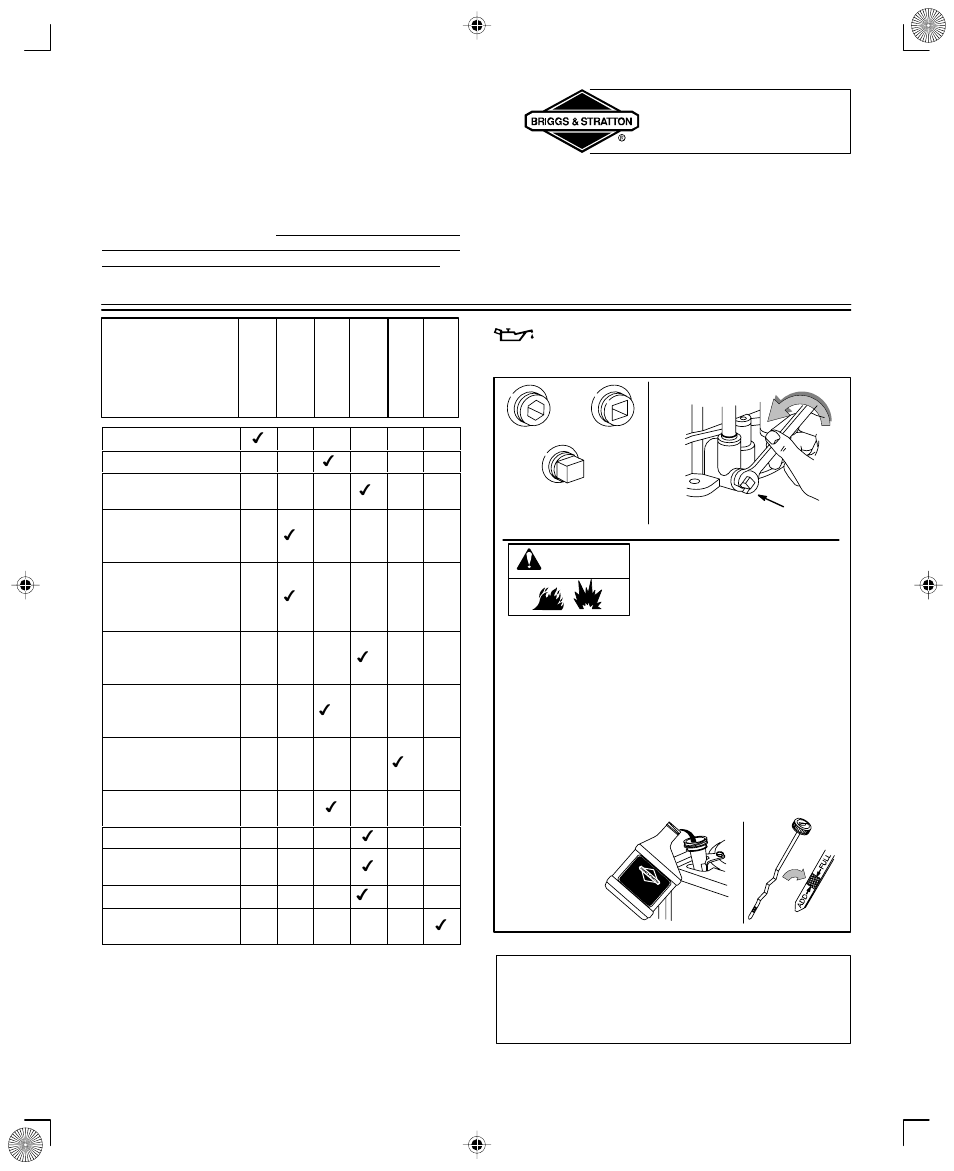 Maintenance, Changing oil | Briggs & Stratton 210000 User Manual | Page 11  / 20