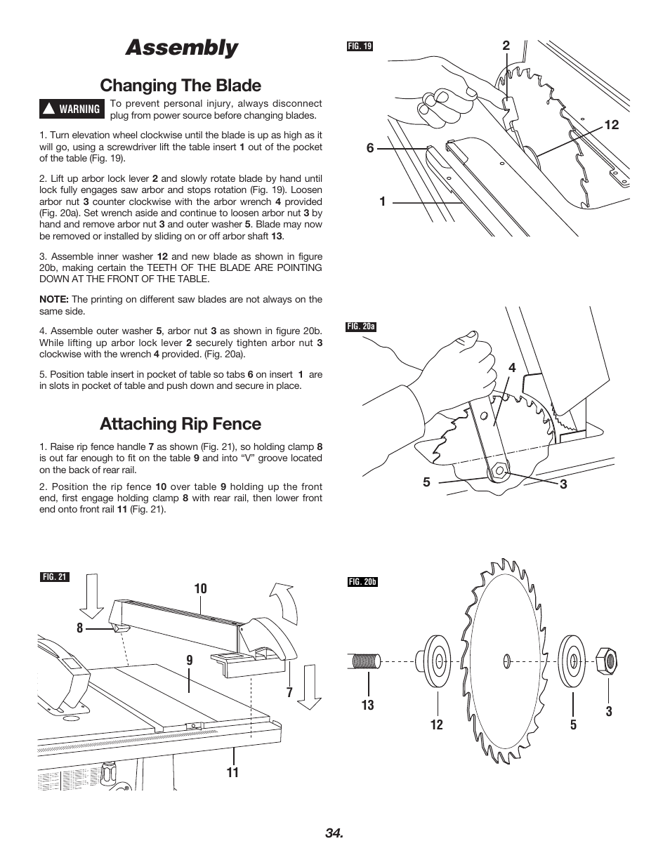 Assembly changing the blade attaching rip fence bosch 4000 user assembly changing the blade attaching rip fence bosch 4000 user manual page 34 68 greentooth Choice Image