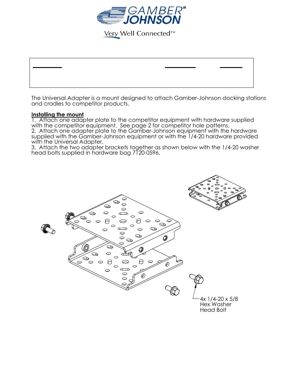 gamber johnson 7160 0454 user manual 2 pages rh manualsdir com Gamber-Johnson iPad Docking Station Gamber-Johnson Consoles
