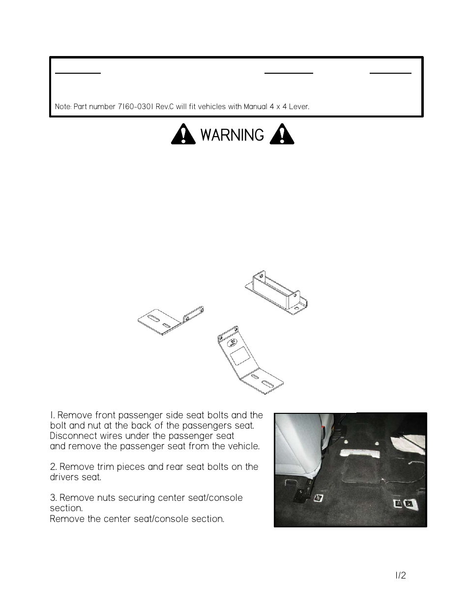 Gamber Johnson 7160 0301 User Manual 2 Pages Ford F 450 Super Duty Wiring Schematic