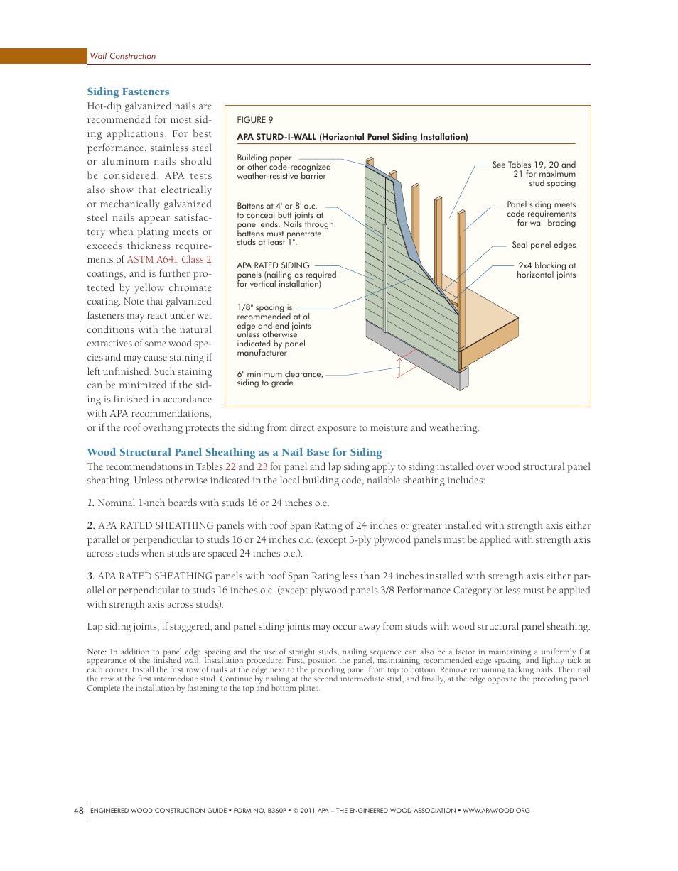 Siding fasteners | Georgia-Pacific APA Engineered Wood Construction