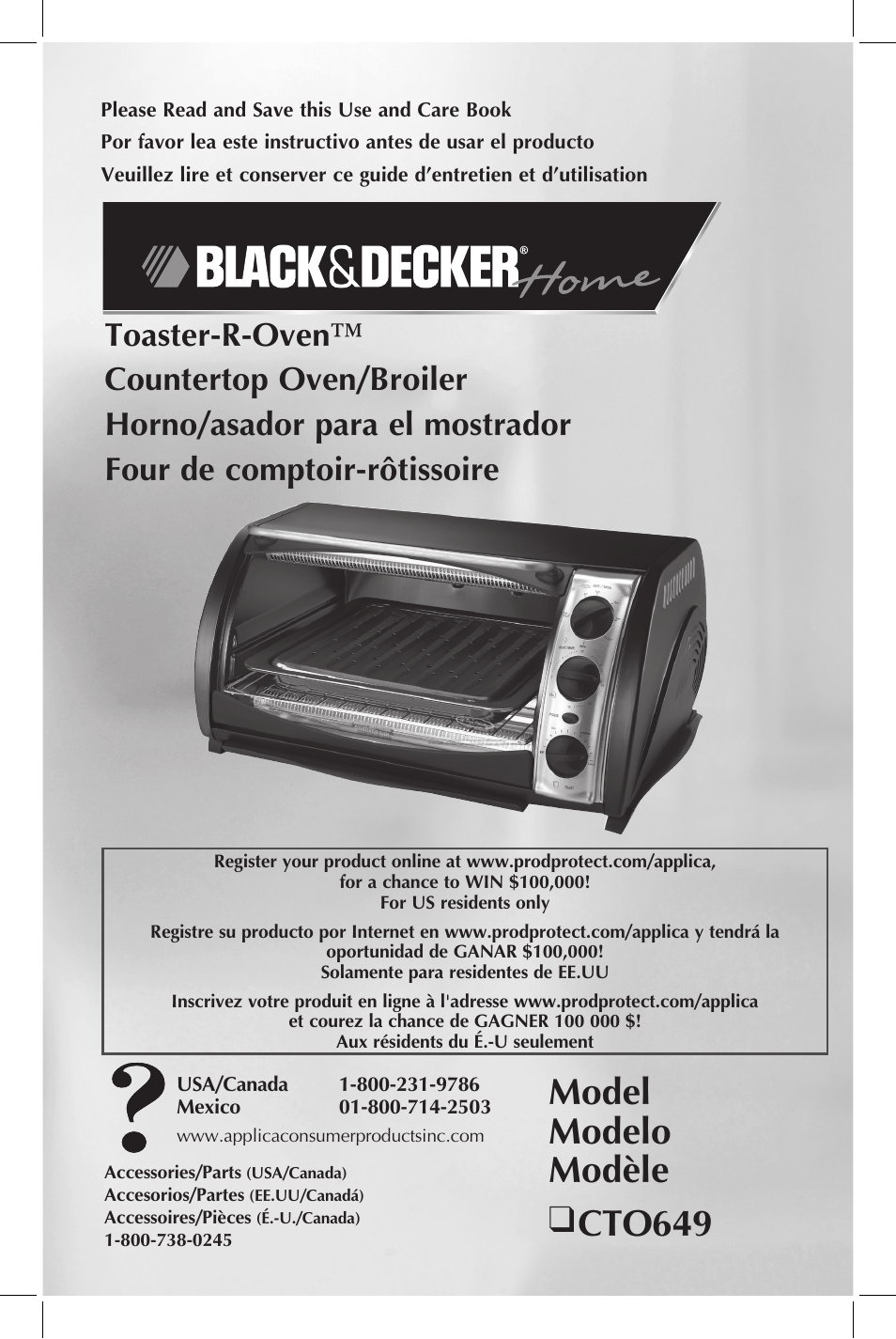 black decker toaster r oven cto649 user manual 15 pages rh manualsdir com black decker rotisserie convection toaster oven manual black & decker to1303sb 4-slice toaster oven manual