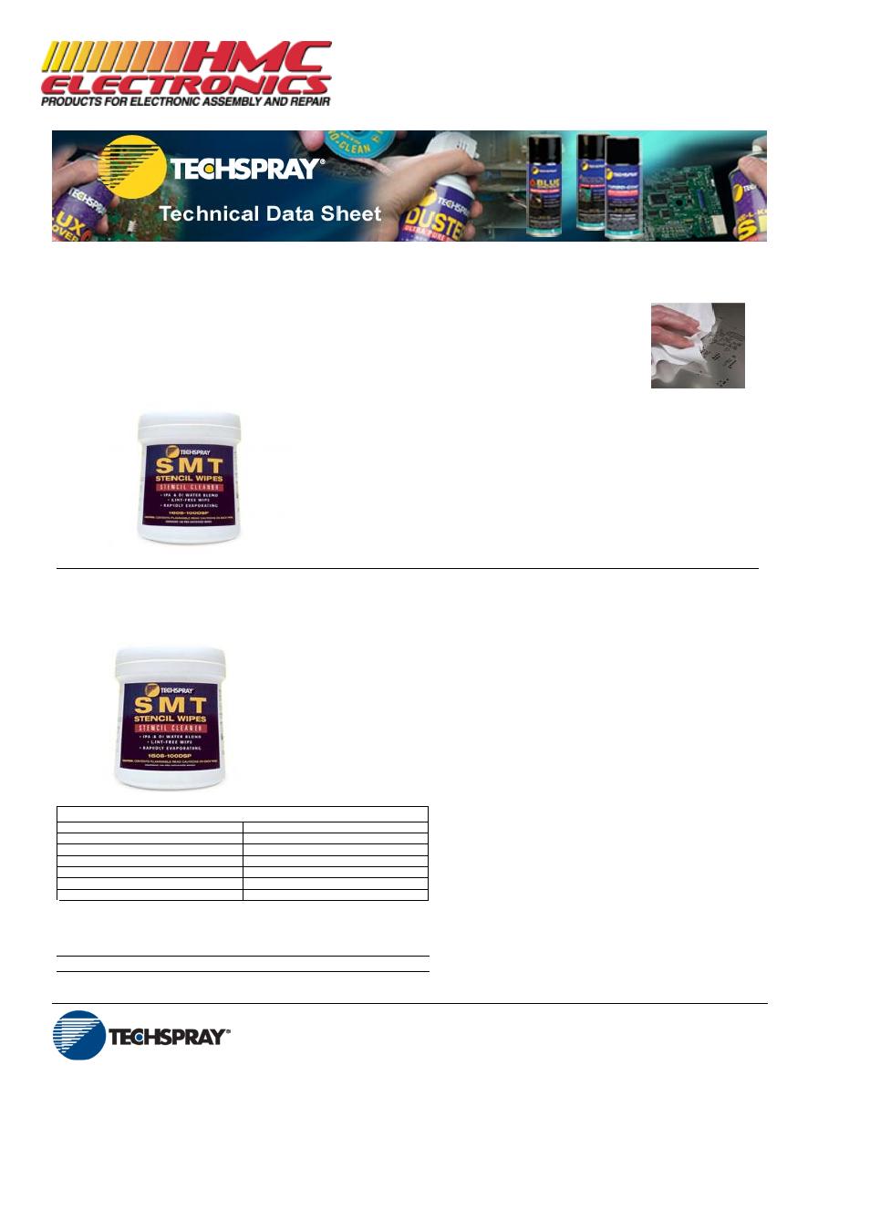 HMC Electronics 1608-100DSP Techspray Isopropyl Alcohol, IPA