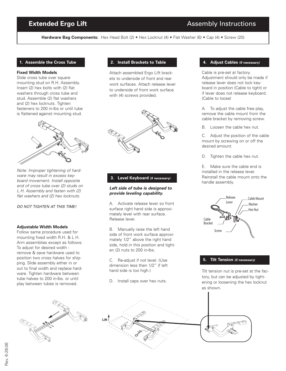 Humanscale Extended Ergo Lift User Manual 1 Page