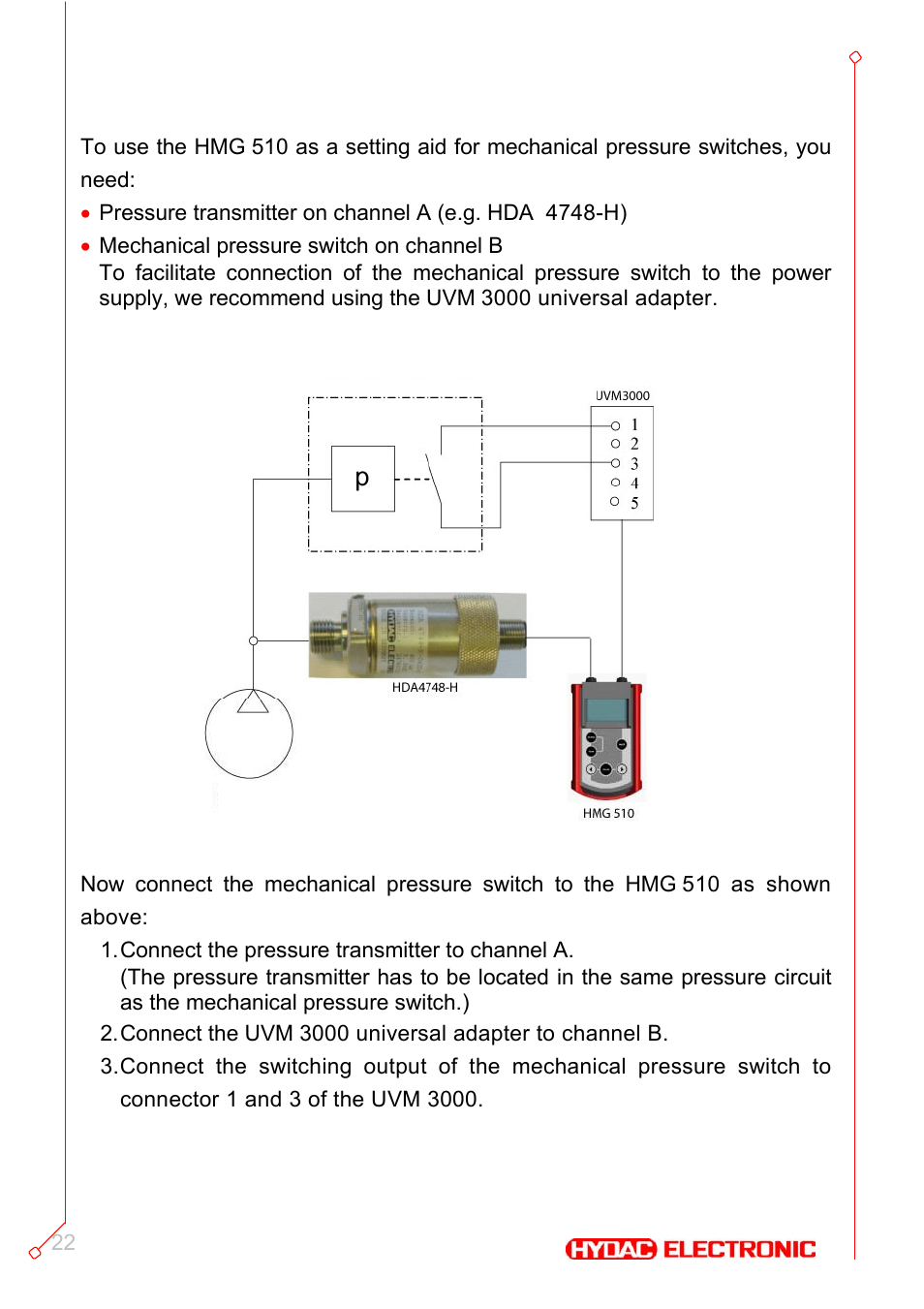 Setting aid for mechanical pressure switches connection diagram setting aid for mechanical pressure switches connection diagram hydac hmg 510 user manual page 22 26 asfbconference2016 Images