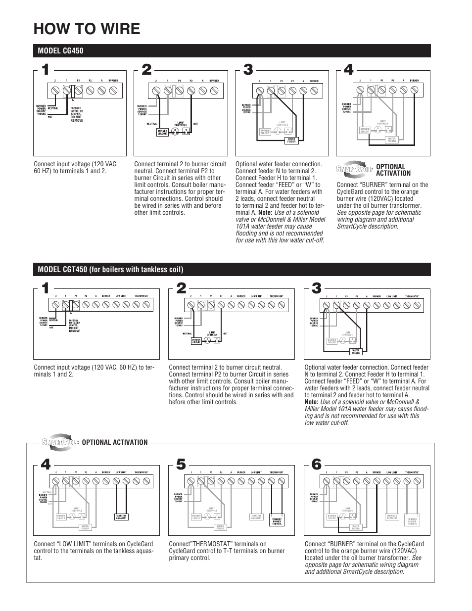 How To Wire Hydrolevel Cgt450 Series User Manual Page 2 4 120 Volt Schematic Wiring Diagram