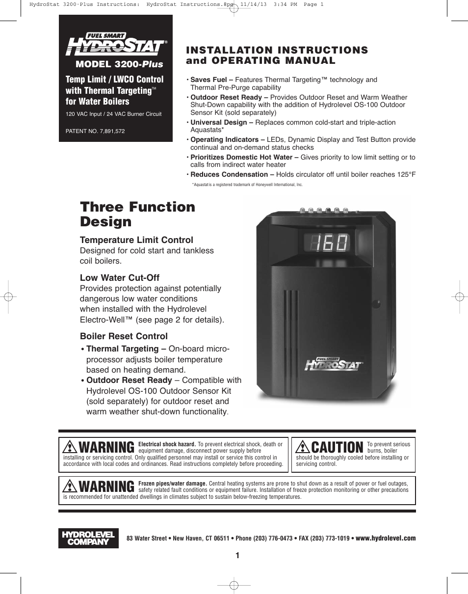 hydrolevel 3200 plus page1 hydrolevel 3200 plus user manual 16 pages hydrostat 3200 wiring diagram at webbmarketing.co