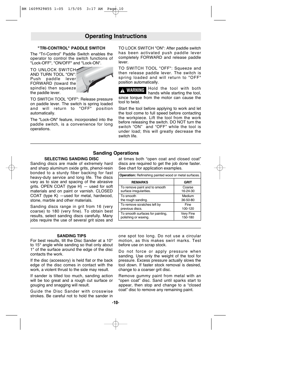 Operating Instructions Bosch Classixx 1853 5 User Manual Page 10