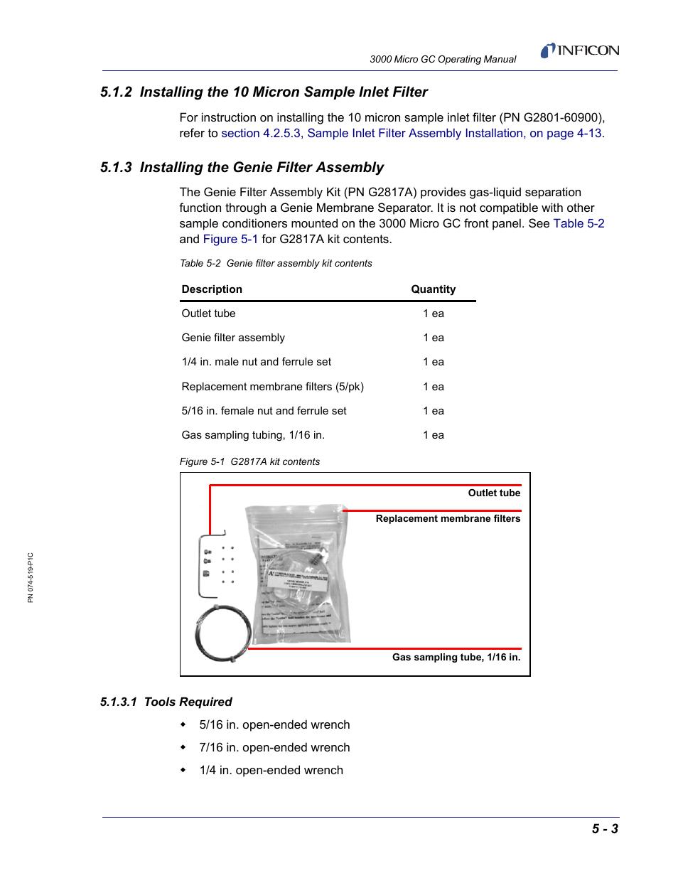2 installing the 10 micron sample inlet filter 3 installing the rh manualsdir com Generac 20 kW Installation Manual Garage Door Installation Manual