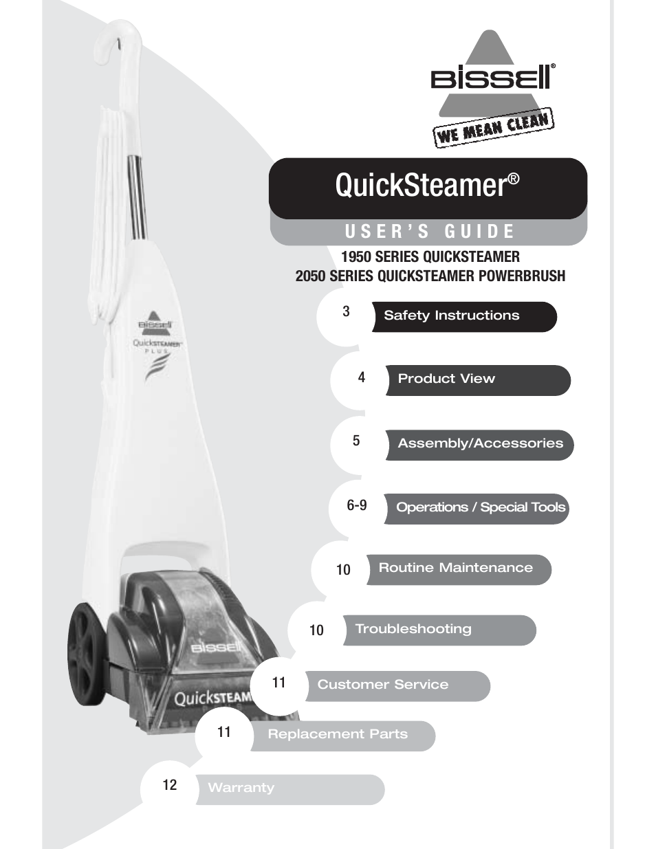 bissell 1950 quicksteamer user manual manual guide example 2018