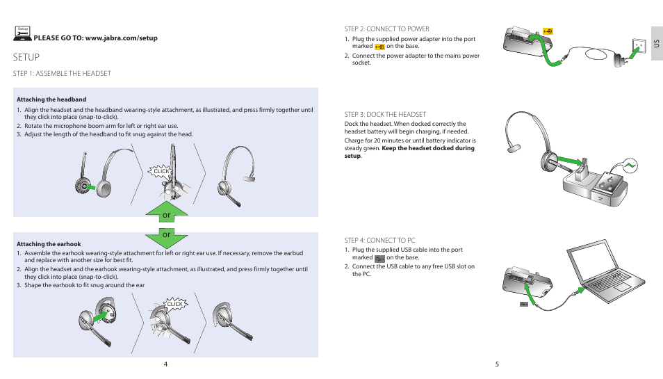 Setup Jabra Pro 9450 Duo Quick Start Guide User Manual Page 5 27