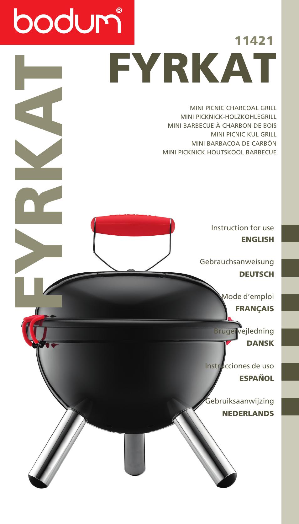 bodum mini picnic charcoal grill 11421 user manual 39 pages. Black Bedroom Furniture Sets. Home Design Ideas