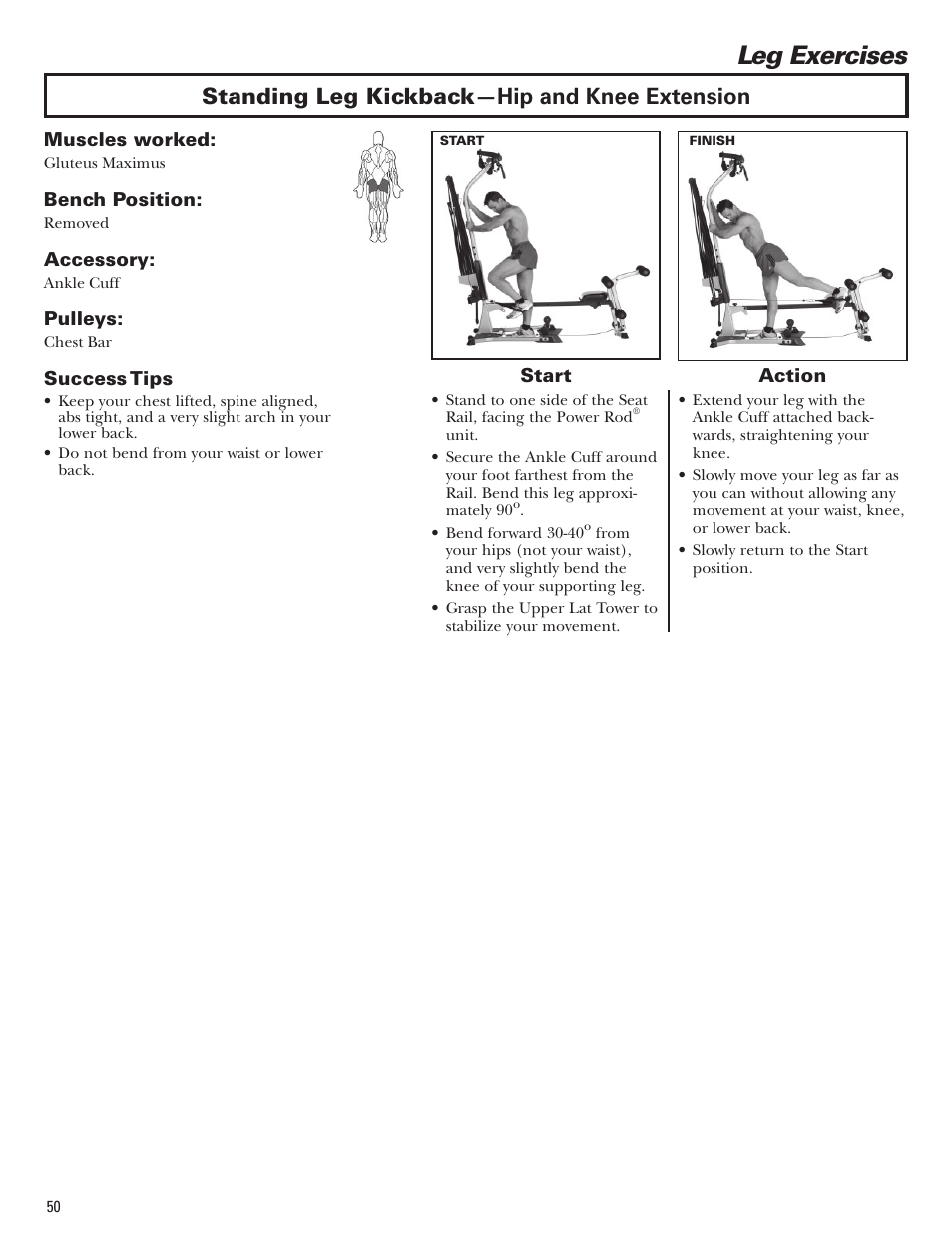 Leg Exercises Standing Leg Kickback Hip And Knee Extension