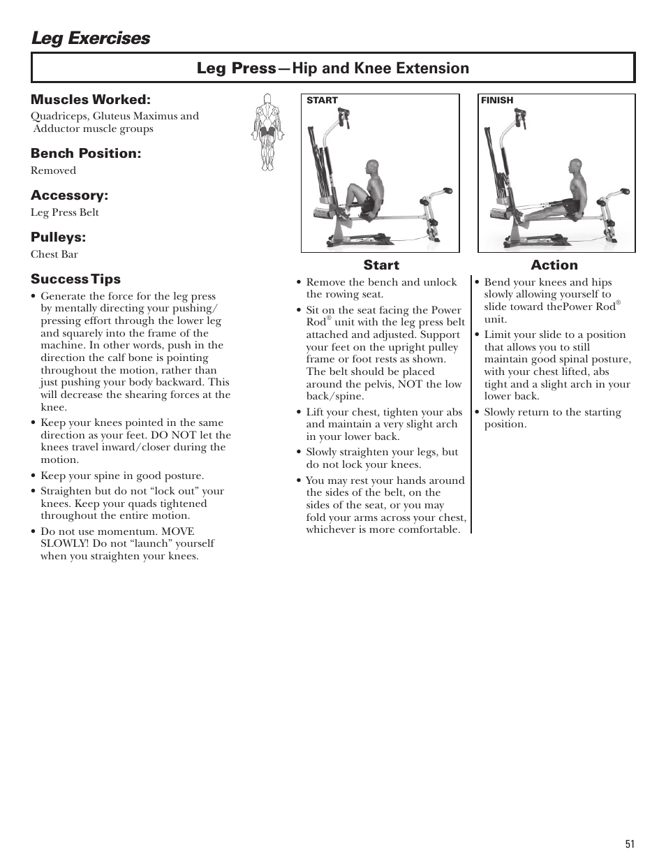 Leg Exercises Leg Press Hip And Knee Extension Bowflex Blaze