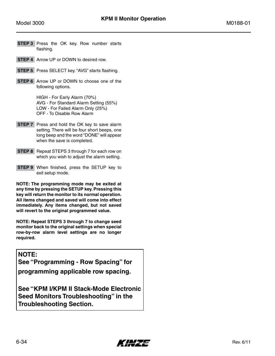 manual for kinze 3000 monitor user guide manual that easy to read u2022 rh 6geek co Kinze 3500 8 Row Planters Kinze 3600