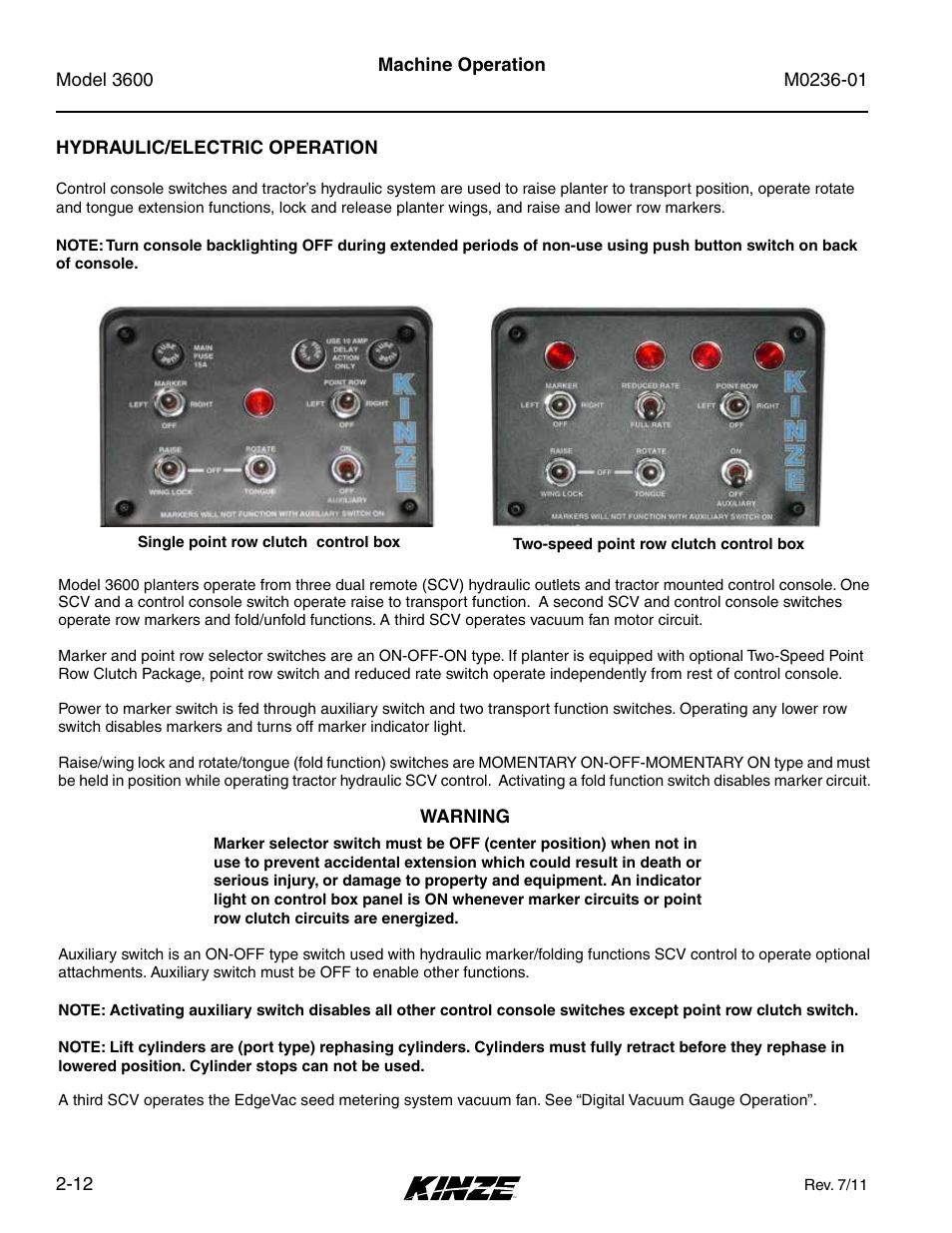 hydraulic electric operation hydraulic electric operation 12 rh manualsdir com control console operating manual vanilla control console operating manual vanilla