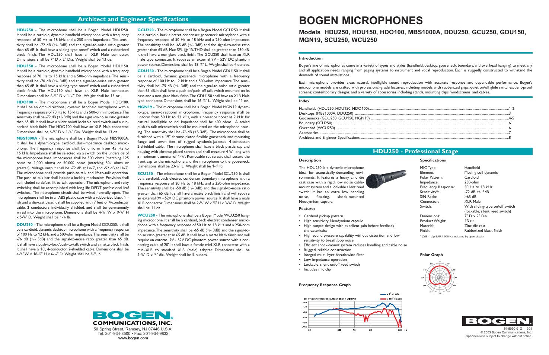 Bogen Ddu250 Mic Wiring Diagram Schematic Diagrams 70v Speaker Mgn19 User Manual 8 Pages Also For Wcu250 Hdo100 Hdu250 Wire