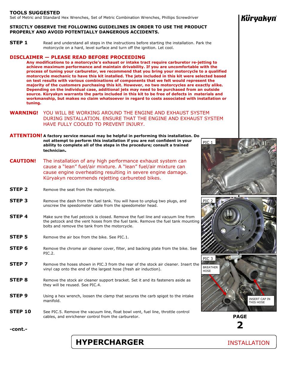 Hypercharger, Installation   Kuryakyn 9410 HYPERCHARGER AIR