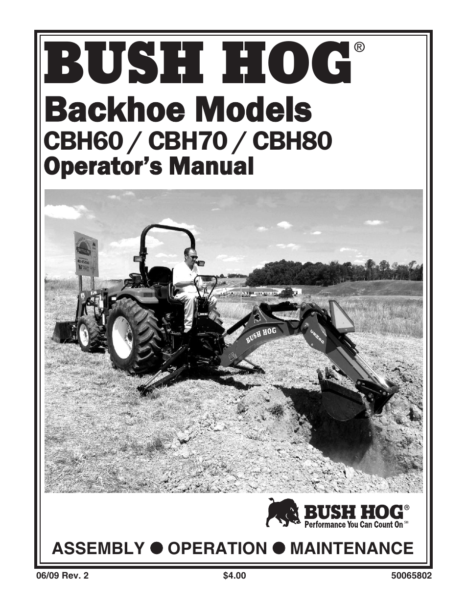 Bush Hog CBH80 User Manual | 56 pages | Also for: CBH70, CBH60