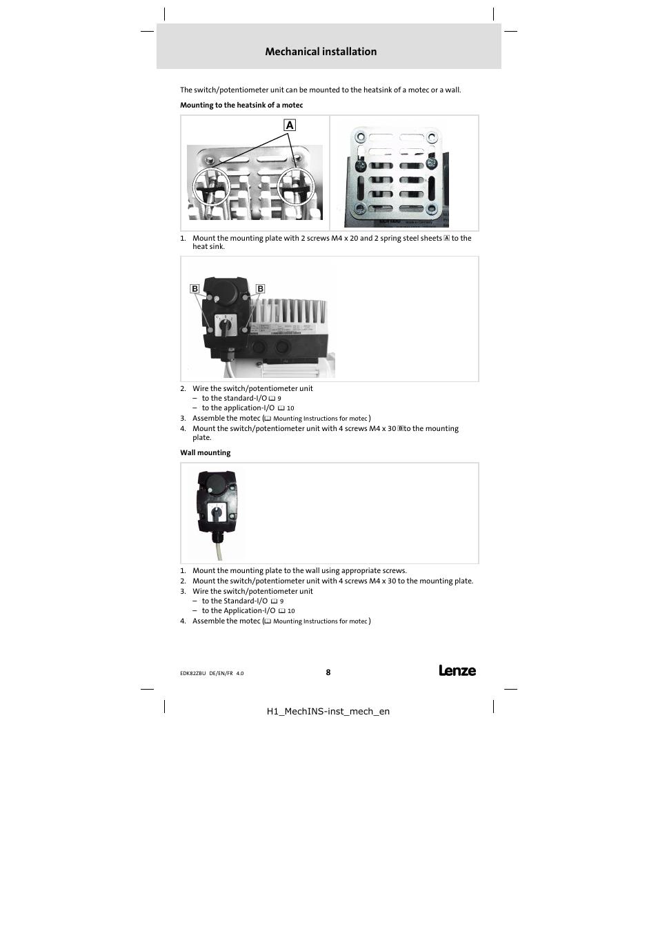 mechanical installation lenze e82zbu user manual page 8 18 rh manualsdir com