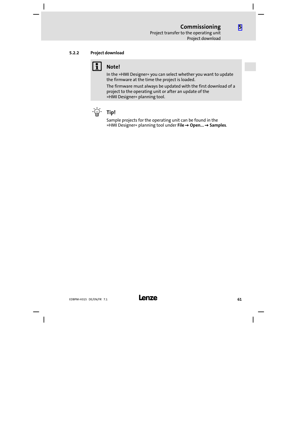 project download lenze epm h315 user manual page 61 108 rh manualsdir com open project user manual open project user guide free download
