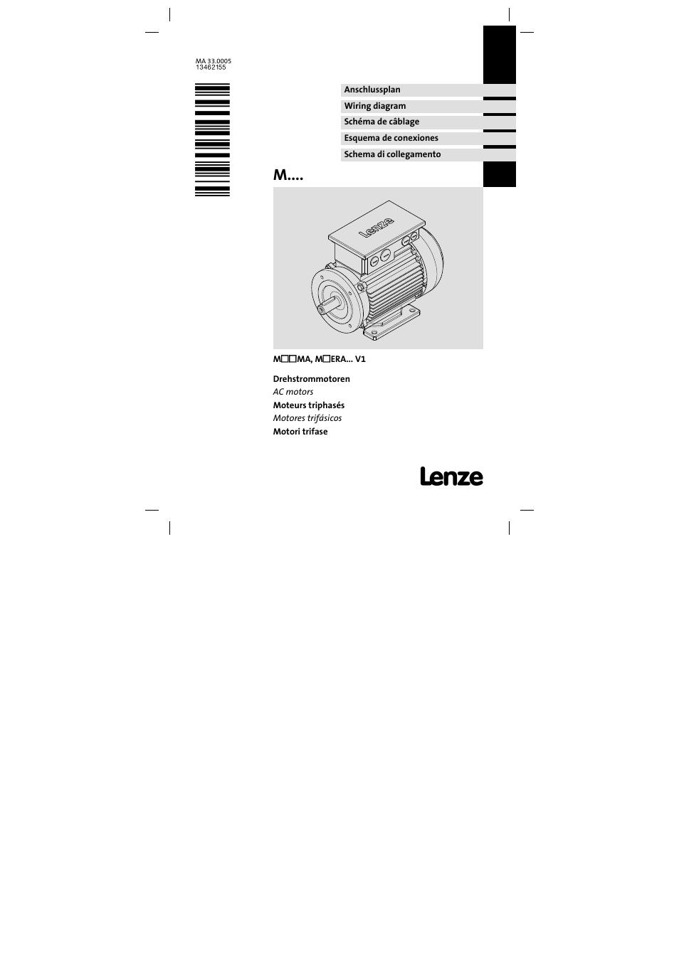 Lenze mhera three phase ac motors user manual 36 pages for Three phase ac motors