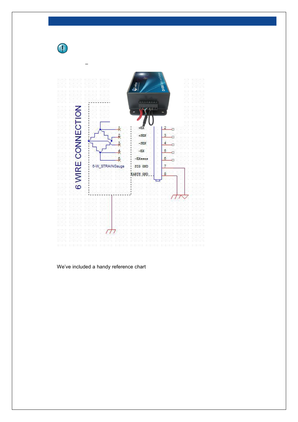 Figure 8: six wire load cell wiring schematic | Loadstar Sensors DI-1000U  Digital Load Cell Interface Manual User Manual | Page 11 / 25