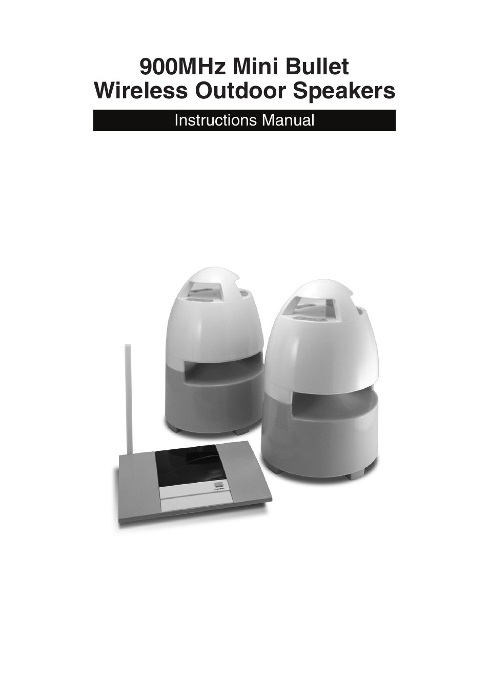 Mark Feldstein Associates Wireless Indoor Outdoor Bullet Speakers User Manual