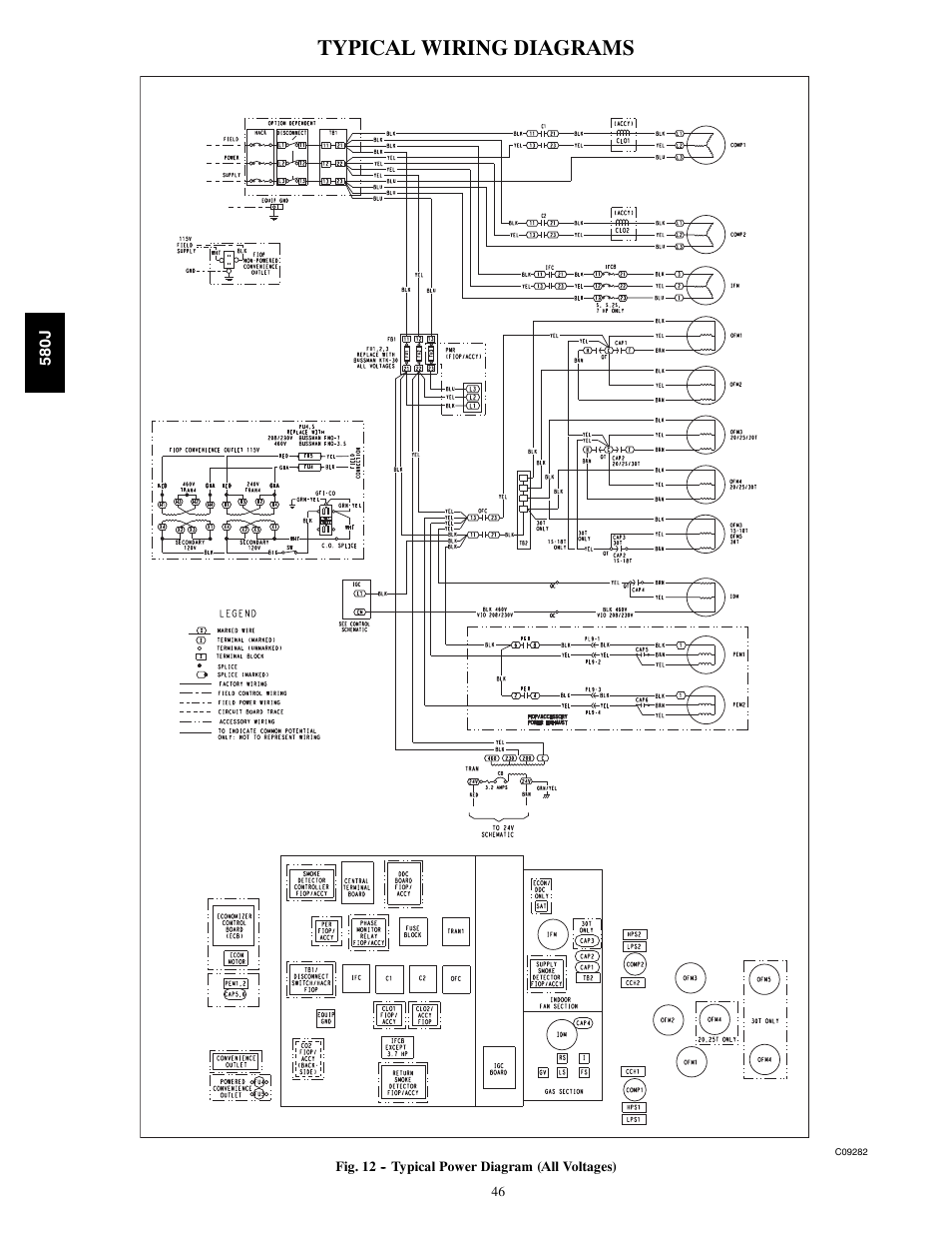 Typical Wiring Diagrams Bryant Legacy 580j User Manual Page 46 60