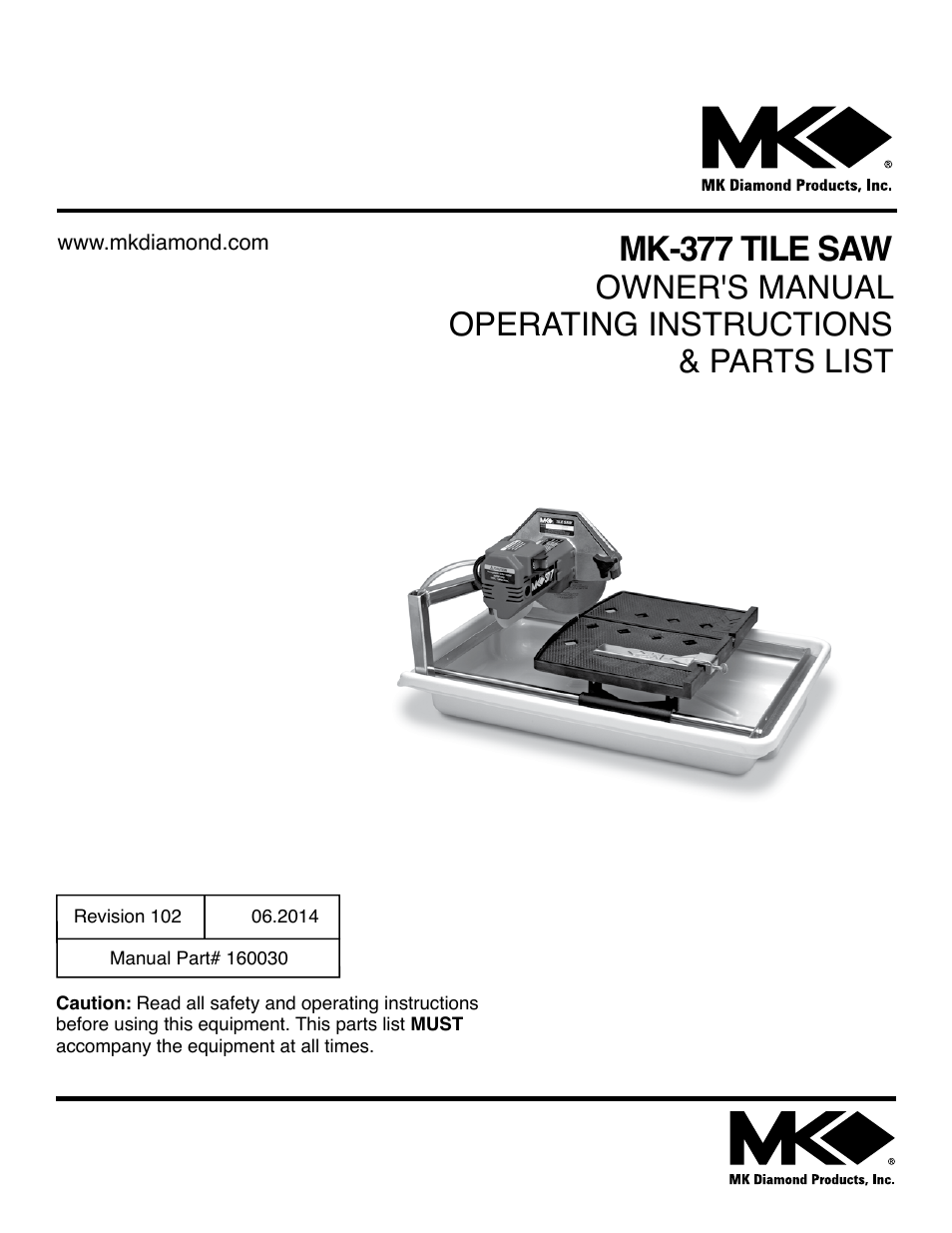 Mk Diamond 377 User Manual 36 Pages